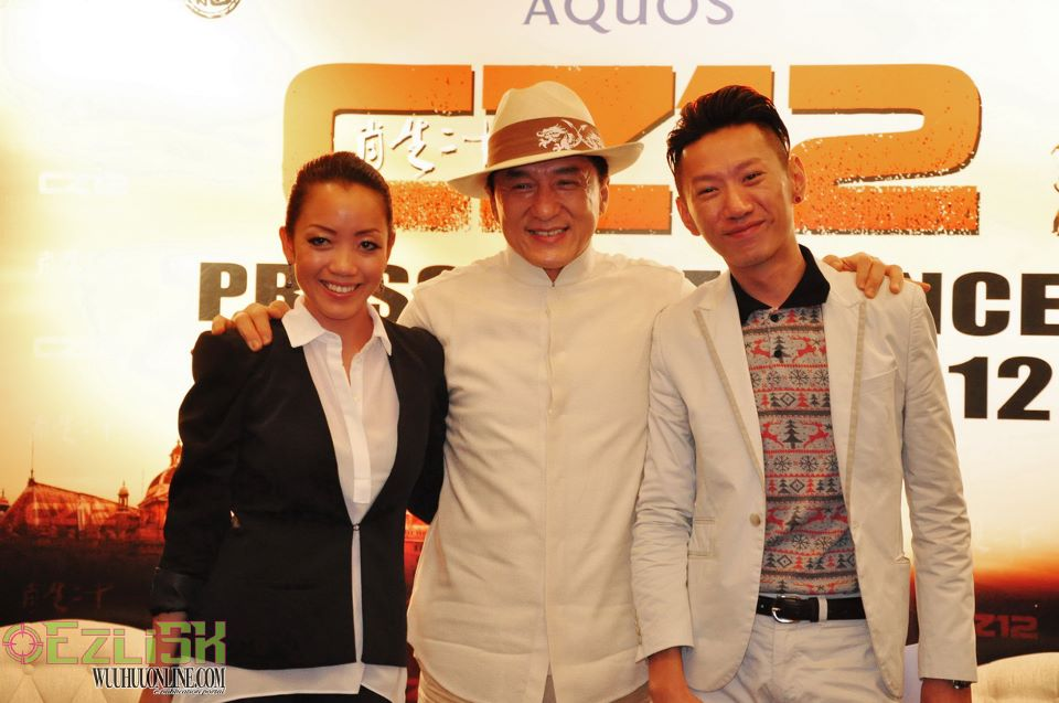 Hosting the press con for CZ12 Jackie Chan